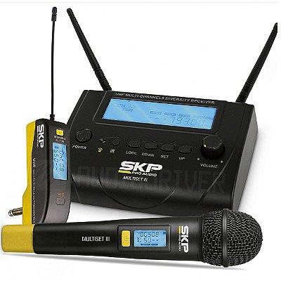 Microfone Sem Fio Bastão C/ Transmissor para Instrumento MULTISET-III - SKP