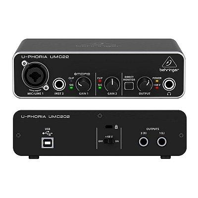 Interface de Audio UMC22 - Behringer F0601