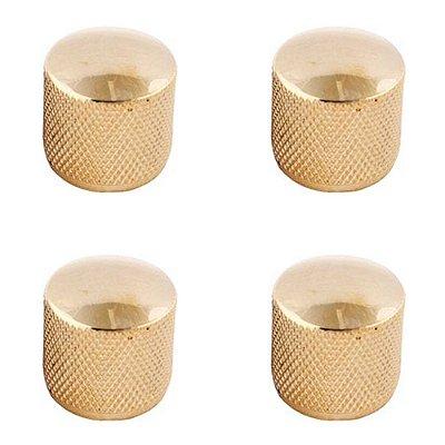 Kit 4 Knob de Metal Dourado KB01 GD - Dreamer