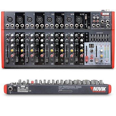 Mixer 12 Canais NVK-1202 BT 220V - Novik