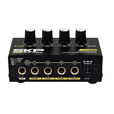 Amplificador para Fone de Ouvido 4 Canais HA-420 - SKP