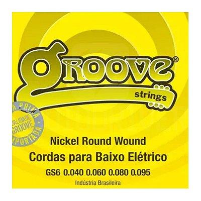 Encordoamento Baixo 4 Cordas 0.40 GS6 - Groove
