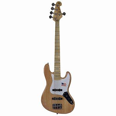 Baixo Jazz Bass 5 Cordas Passivo em Ash SJB755 NA - SX