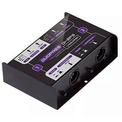 Direct Box com 2 canais Passivo DI-2PS - Waldman