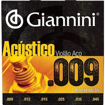 Encordoamento Violão Bronze 65/35 0.09 GESWAL - Giannini
