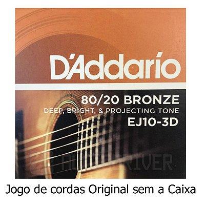 Encordoamento Violão 010 Aço EJ10 UNIDADE SEM CAIXA - D'addario