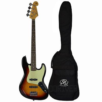Baixo Jazz Bass 4C C/ Bag SJB62 3TS - SX