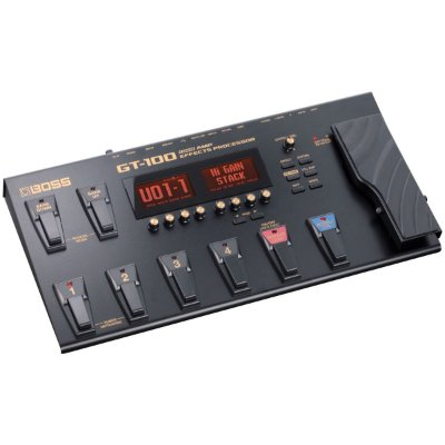 Pedaleira para Guitarra Boss GT-100 Processador de Efeitos e Amplificadores