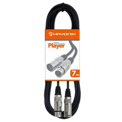 CABO MICROFONFE PLAYER XLR(F)/XLR(M) 7MT - HAYONIK