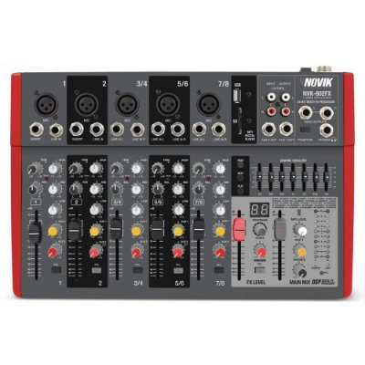 Mixer 8 Canais NVK-802 FX 110V - Novik