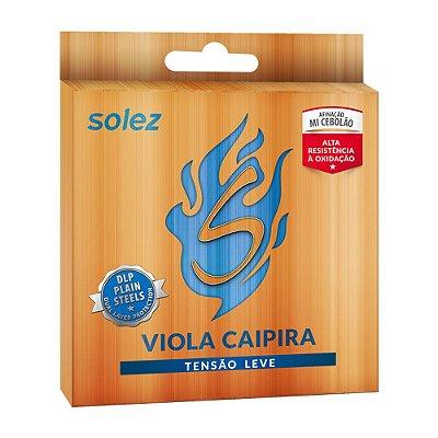 Encordoamento Viola Caipira Niquel DLP Tensão Leve SLVC TL - Solez