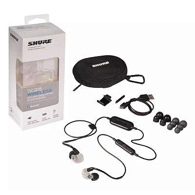Fone Intra Bluetooth SE215 CL BT1 Transparente - Shure