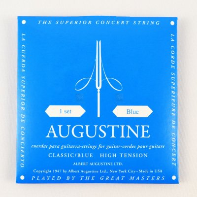 Encordoamento Violão Nylon Blue Tensão Extra Bordões / Regular Primeiras - Augustine