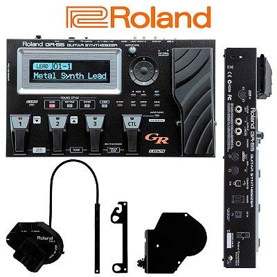 Pedaleira Sintetizador Midi Para Guitarra GR-55GK-BK Completa com Captador - Roland