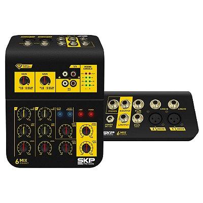 Mixer Mesa de som 4 Canais Connect 6 - SKP