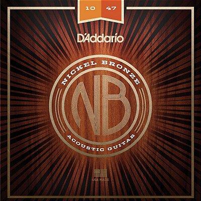 Encordoamento Violão Aço 010 NB1047 - D'Addario