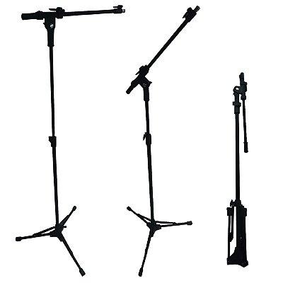 Pedestal Girafa para Microfone modelo telescópioco Preto PSU00090 - RMV