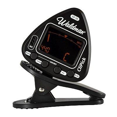 Afinador de Clipe para Instrumentos de Corda CP-10 BK - Waldman