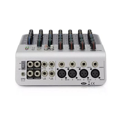 Mixer Mesa de Som 8 Canais MIX 04 AU USB - Boxx