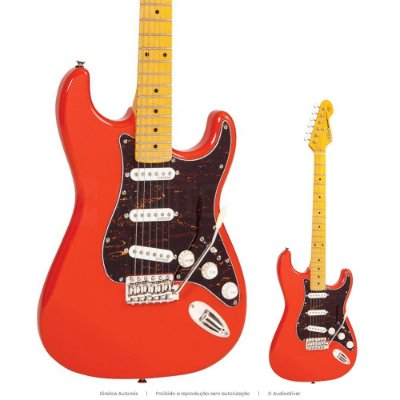 Guitarra Strato Vintage V6M FR Escala Maple
