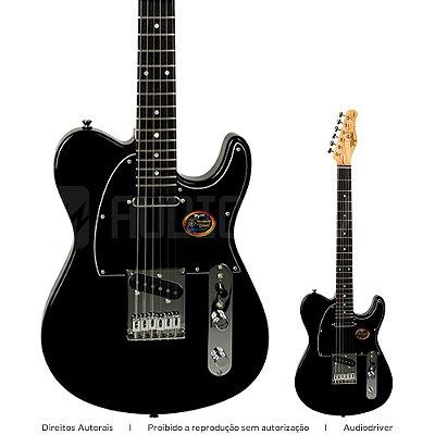 Guitarra Tagima T-910 Telecaster BK DF/BK Linha Brasil