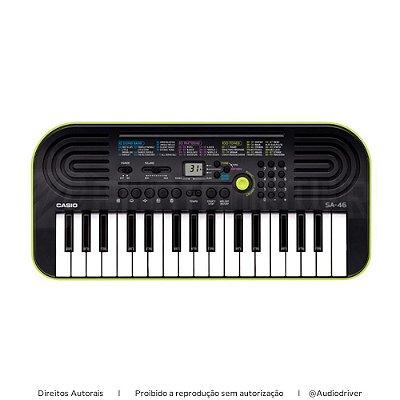 Teclado Infantil Casio Musical SA-46AH2 Verde