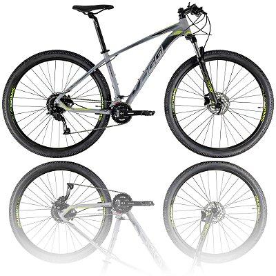 BICICLETA ARO 29 OGGI BIG WHEEL 7.0 2021 - TAMANHO 19 | GRAFITE, PRETO E VERDE