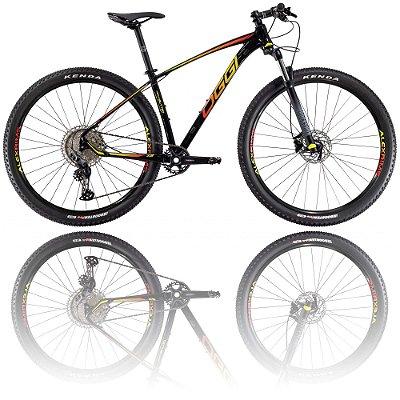 BICICLETA ARO 29 OGGI BIG WHEEL 7.2 2021 - TAMANHO 17 | PRETO, AMARELO E VERMELHO