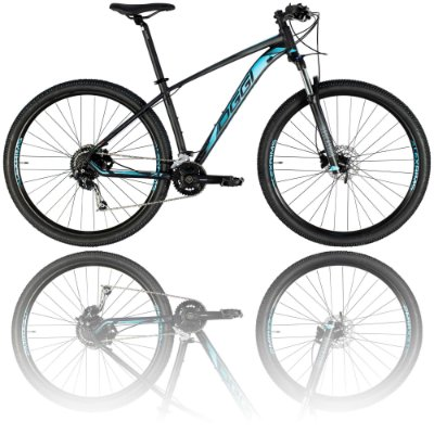 BICICLETA ARO 29 OGGI BIG WHEEL 7.1 2021 - TAMANHO 17 | PRETA, AZUL E GRAFITE