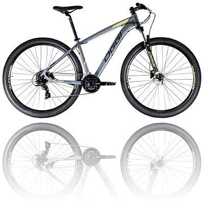 BICICLETA ARO 29 OGGI HACKER HDS 2021 - TAMANHO 17 | GRAFITE, PRETO E VERDE
