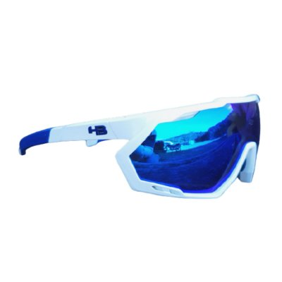ÓCULOS HB SPIN PEARLED WHITE BLUE CHROME CRISTAL | BRANCO E AZUL