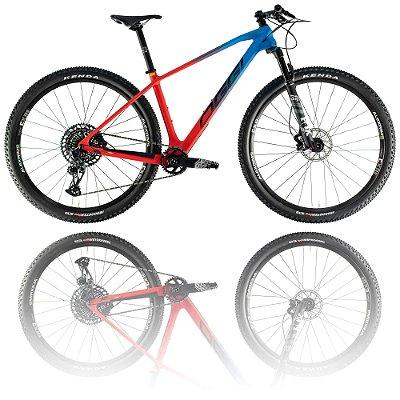 BICICLETA ARO 29 OGGI AGILE PRO GX 2021 - TAMANHO 17 | VERMELHO, AZUL E PRETO