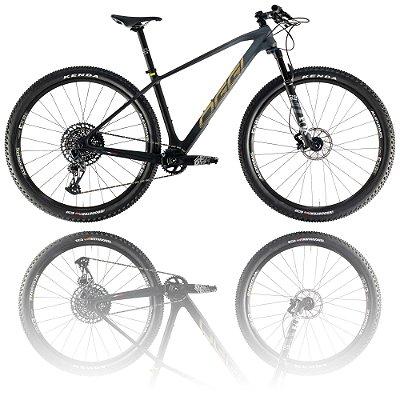 BICICLETA ARO 29 OGGI AGILE PRO GX 2021 - TAMANHO 19 | GRAFITE, PRETO E DOURADO
