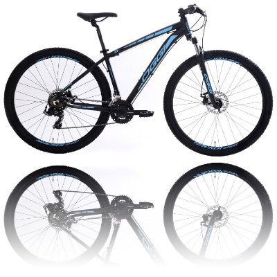 BICICLETA ARO 29 OGGI HACKER SPORT 2020 - TAMANHO 17 | PRETO E AZUL