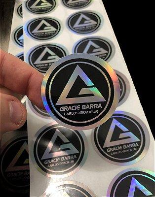 Adesivo holográfico 48 x 48mm 100 unidades.