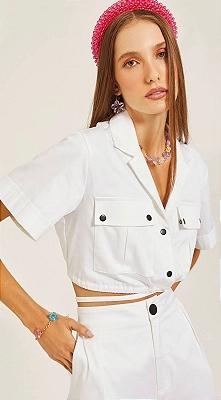 Camisa Cropped Branca