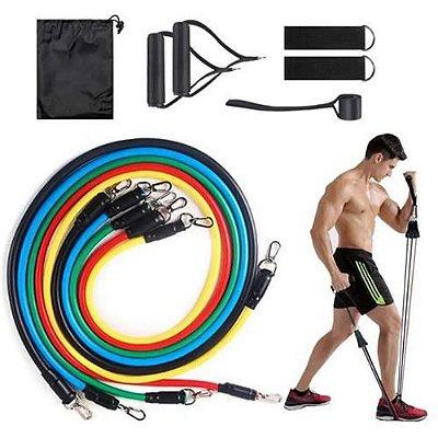 Kit Extensores Multifuncional 5 Borrachas Shop Fitness