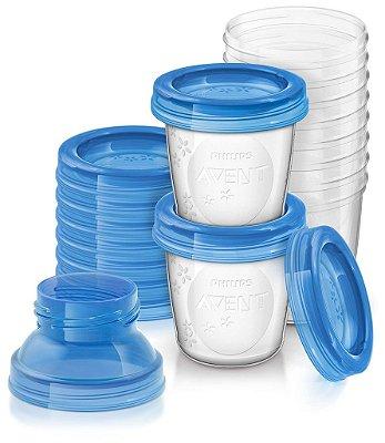 Potes para Armazenamento de Leite Materno 180ml - Philips Avent