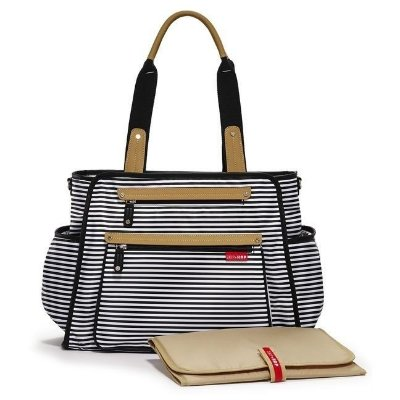 Bolsa Maternidade (Diaper Bag) com Trocador - Grand Central Black Stripe - Skip Hop