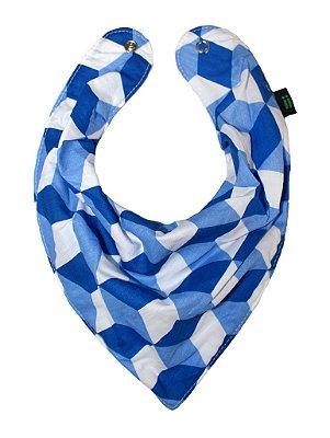 Babador Bandana Azul e Branco 3D - Gumii