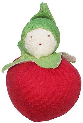Mordedor e Brinquedo de Algodão Orgânico Tomate - Under The Nile
