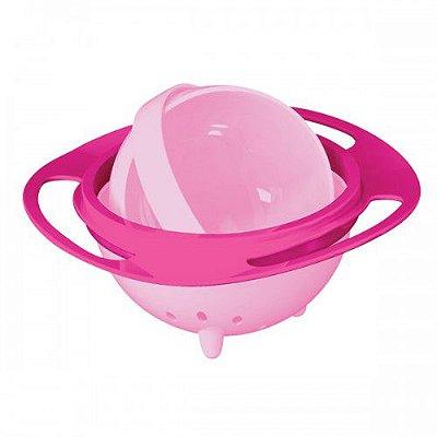 Prato Mágico Giratório 360 graus para Bebês e Crianças - Rosa