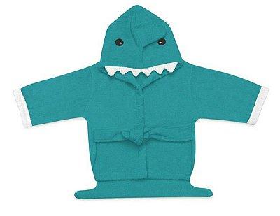 Roupão para Bebê com Capuz Tubarão Azul - Multikids Baby
