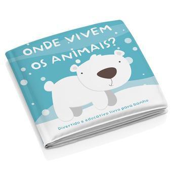 """Livro Educativo para Banho """"Onde Vivem os Animais?"""" - Multikids Baby"""