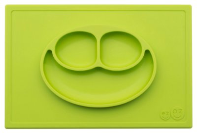 Jogo Americano com Prato Acoplado Happy Mat Verde - EZPZ