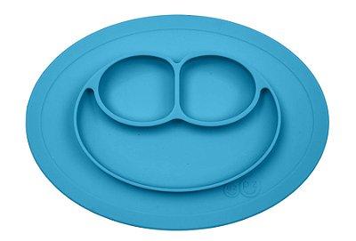 Jogo Americano com Prato Acoplado Mini Happy Mat Azul - EZPZ
