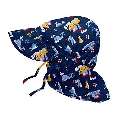 Chapéu de Banho Infantil Australiano com FPS +50 Baleia Jackson - iPlay