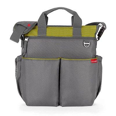 Bolsa Maternidade (Diaper Bag) com Trocador - Duo Signature Charcoal/Lime - Skip Hop