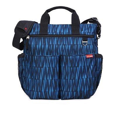 Bolsa Maternidade (Diaper Bag) com Trocador - Duo Signature Blue Grafitti - Skip Hop