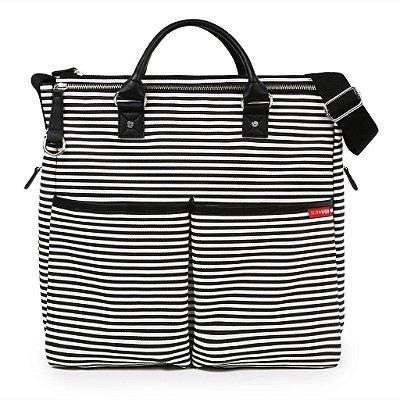 Bolsa Maternidade (Diaper Bag) com Trocador - Duo Edição Especial Black Stripe - Skip Hop
